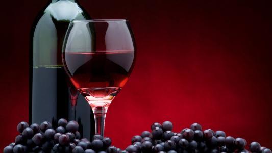 葡萄酒,玻璃瓶,葡萄