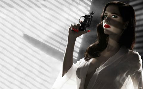 伊娃·格林热在罪恶城市一个女人杀死壁纸