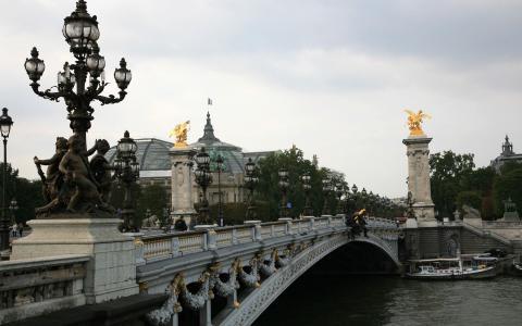 法国巴黎Pont Alexre Iii壁纸