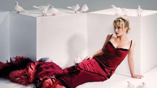 海登Panettiere红色连衣裙鸽子高清壁纸