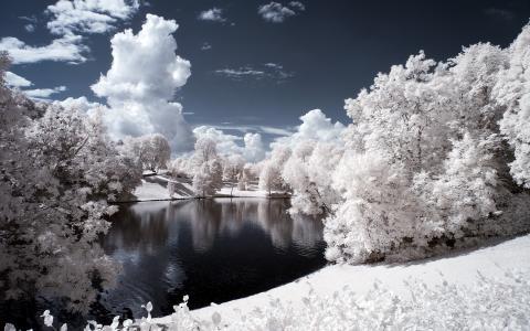 维格兰雕塑公园挪威高清壁纸