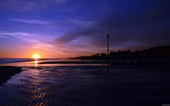 大海日出日落图片壁纸