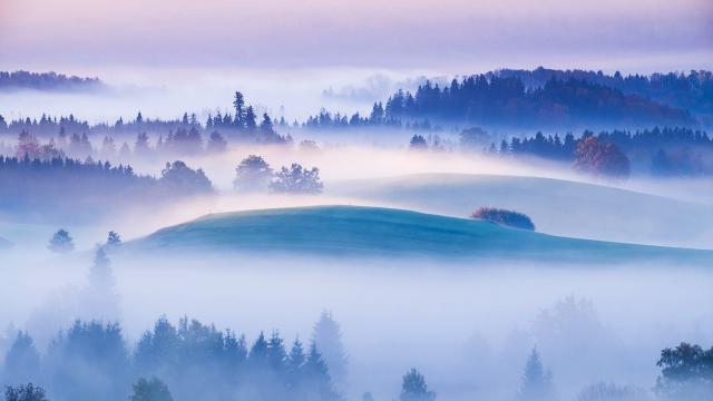 柔和美丽的风景图片壁纸