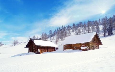 冬日雪景壁纸