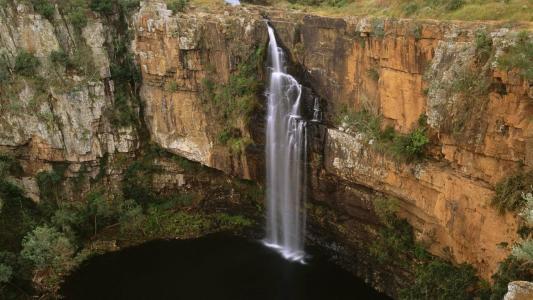 萨比河瀑布德兰士瓦南非壁纸