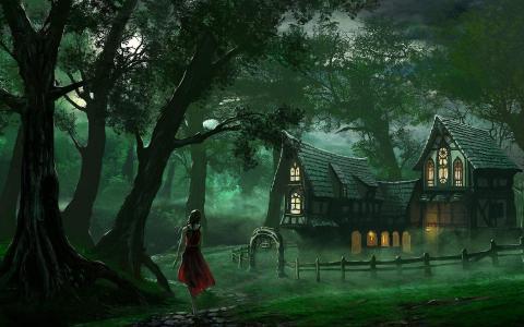 童话故事夜壁纸
