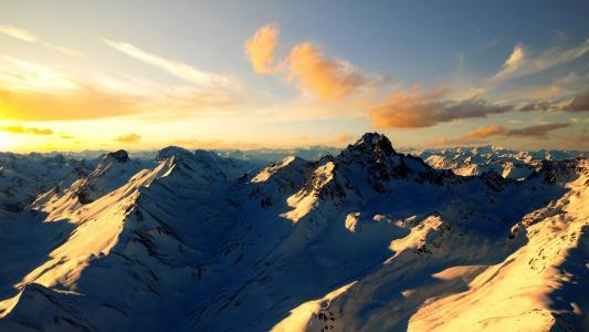 山,山峰,风景壁纸