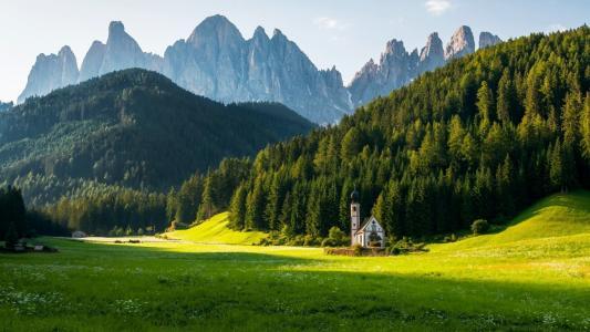山,草,草地,森林,景观,性质壁纸