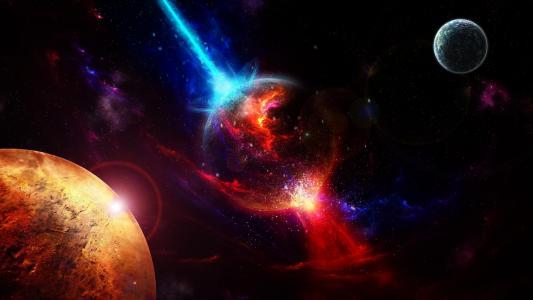 空间,行星,起飞,爆炸壁纸