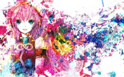 Megurine Luka Vocaloid动漫女孩壁纸