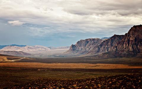 风景沙漠摇滚乐石云高清壁纸