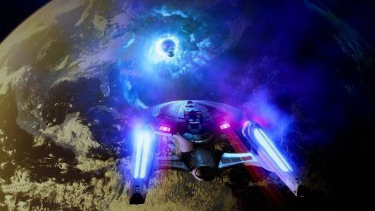 星际迷航,船舶,星球,创意设计壁纸