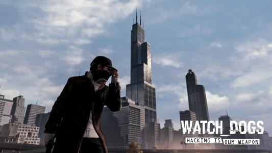 看门狗帽子芝加哥建筑摩天大楼高清壁纸