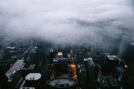 芝加哥雾的壁纸