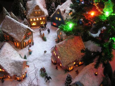 圣诞节村View4结束墙纸
