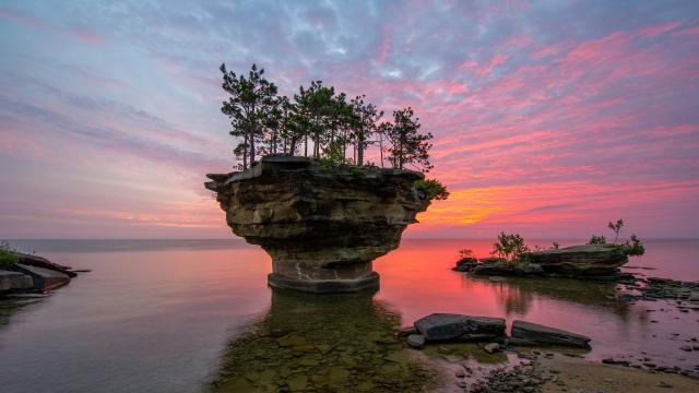 美国密歇根州晚霞风景壁纸