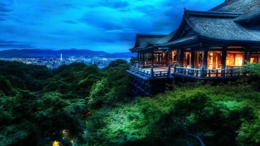清水寺京都建筑高清壁纸