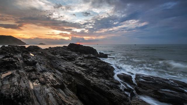 大海边日出图片壁纸