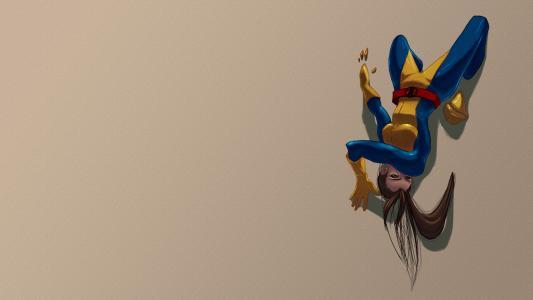 X战警的黑发幻影猫小鹰普赖德高清壁纸
