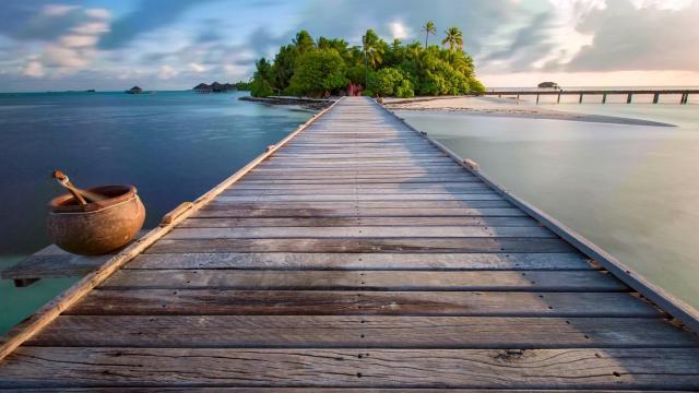 马尔代夫曼德芙岛景色壁纸