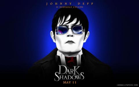黑暗阴影中的约翰尼·德普壁纸