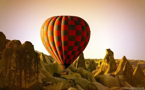 气球在卡帕多西亚土耳其壁纸