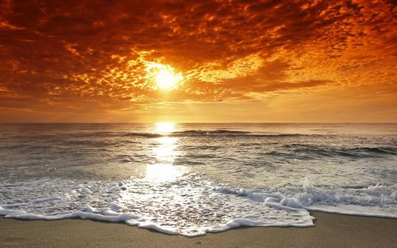 唯美大海天空图片壁纸