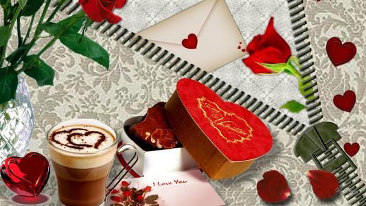情人节咖啡壁纸