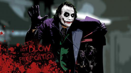蝙蝠侠黑暗骑士小丑高清壁纸