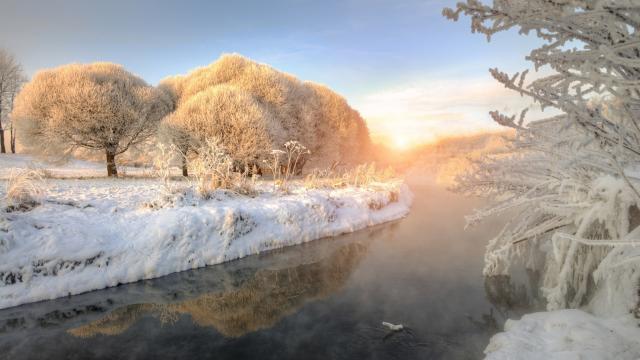 迷人冬季雪景图片壁纸