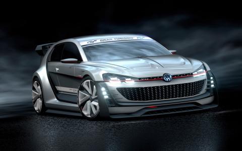 2015大众超级视觉GTI赛车…汽车高清壁纸