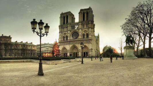 巴黎圣母院圣诞壁纸