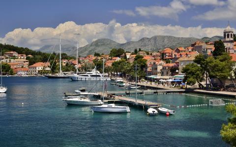 克罗地亚港口视图壁纸