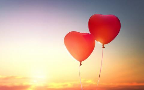 浪漫爱情气球壁纸