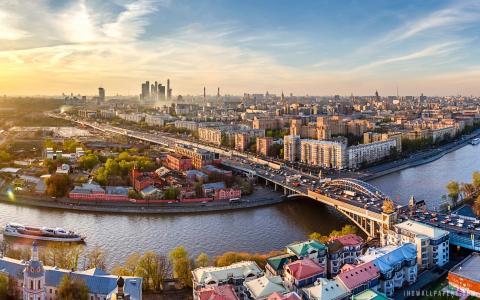 市中心莫斯科俄罗斯