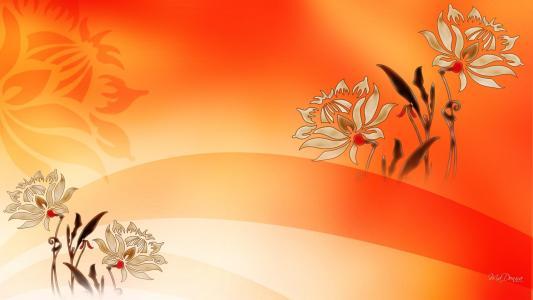 鲜花为繁荣壁纸