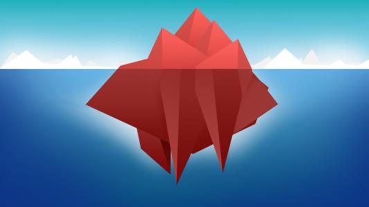 红色冰山壁纸