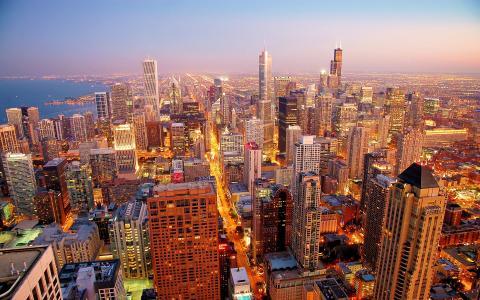 美国芝加哥城市风景壁纸