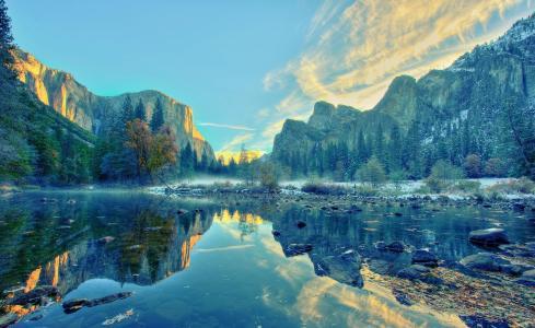 山,湖,风景壁纸