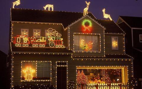 在圣诞节壁纸精美装饰的家
