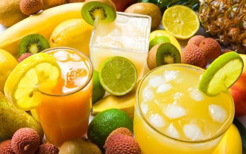 酸橙汁猕猴桃水果照片壁纸