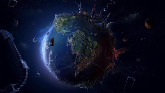 地球模型高清壁纸