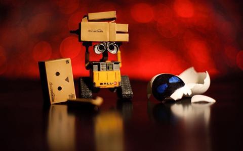 亚马逊墙壁Danbo幽默滑稽的Sadic玩具机器人电影照片画廊墙纸