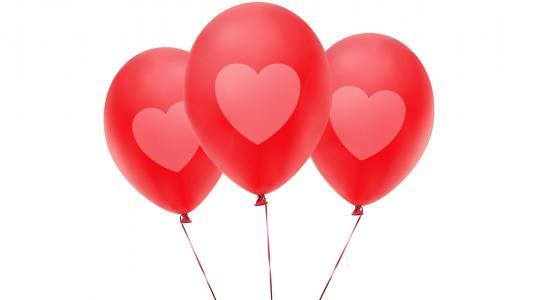 粉红色气球