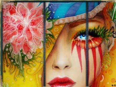 可爱的脸艺术壁纸