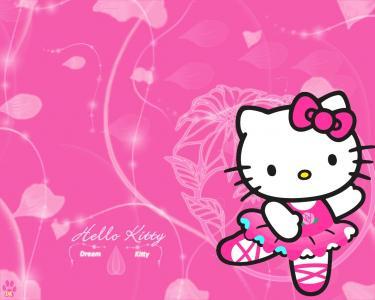 逗人喜爱的Hello Kitty高Res库存照片自由墙纸