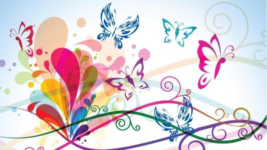 可爱的蝴蝶壁纸
