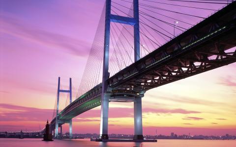 横滨湾大桥日本高清壁纸