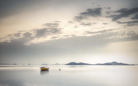 湖,船,风景壁纸