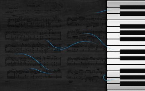 钢琴高清壁纸